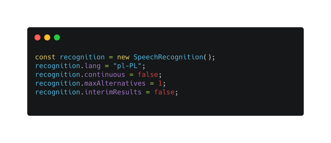 RST Software Speech recognition in JavaScript